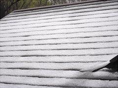 4月中旬なのに雪